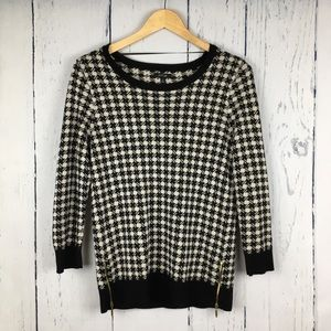 Apt. 9 Tops - 5/$25 Apt 9 Houndstooth Side Zip Sweater Medium